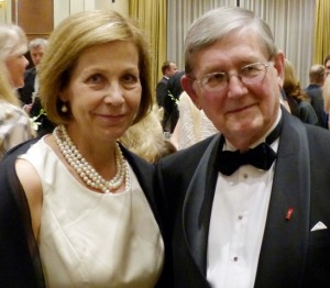 Ambassador of Finland to the U.S. Ritva Koukku-Ronde and FFN President Ossi Rahkonen at the gala celebrating the 60th anniversary of the Foundation, March 2013 in Pasadena, California