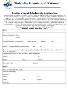 Microsoft Word - 2016 Lindfors Scholarship Application.docx